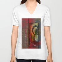 oriental V-neck T-shirts featuring Oriental Projecting  by John Hansen