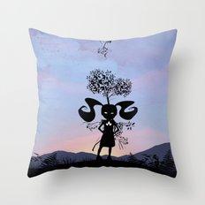 Poison Ivy Kid Throw Pillow