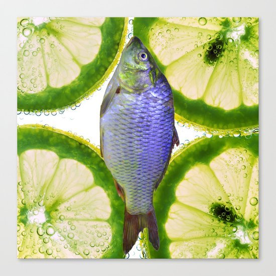Lime Fish Canvas Print