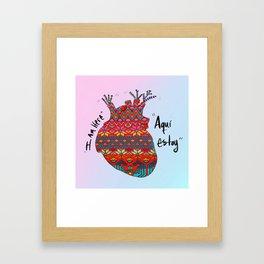 Aquí Estoy Framed Art Print