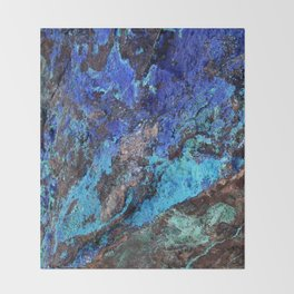 Malachite Mineral Stone rustic decor Throw Blanket