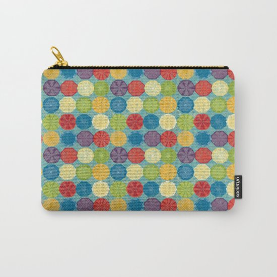 round and colour 6 Carry-All Pouch