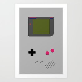 Gameboy iphone / ipod Art Print