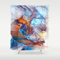 eagle Shower Curtains featuring Eagle  by haroulita