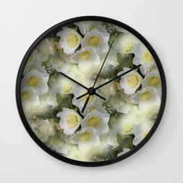 flowers -12- seamless pattern Wall Clock