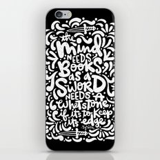 a mind needs books iPhone & iPod Skin
