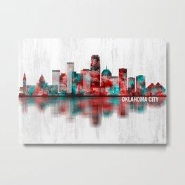 Oklahoma City Oklahoma Skyline Metal Print
