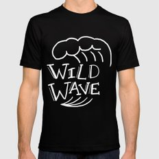 Wild Wave Mens Fitted Tee Black MEDIUM