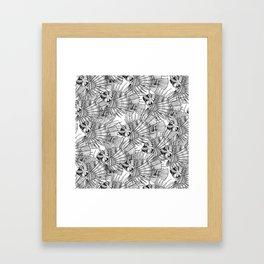 fish mirage black white Framed Art Print