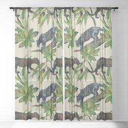 Wild cats Sheer Curtain