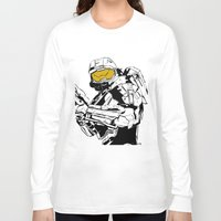 master chief Long Sleeve T-shirts featuring Halo Master Chief by Ashley Rhodes