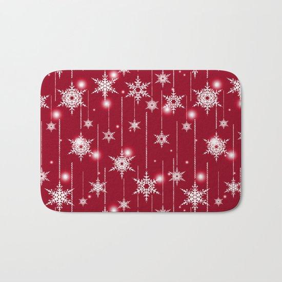 Bright Christmas background. Bath Mat