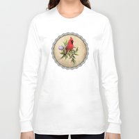 cardinal Long Sleeve T-shirts featuring Cardinal by Ludovic Jacqz