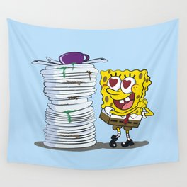 SPONGE BOB AND HIS HOBBY Wall Tapestry