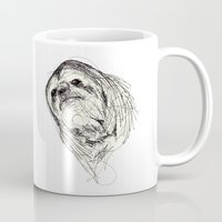 sloth Mugs featuring Sloth by Ursula Rodgers