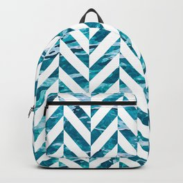 Watercolor Herringbone Backpack