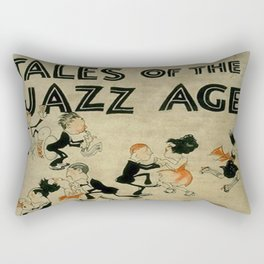 Tales of the Jazz Age vintage book cover - Fitzgerald Rectangular Pillow