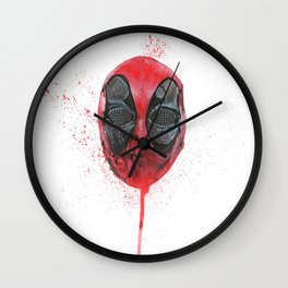 The Emptiness of Masks - Dead pool Wall Clock