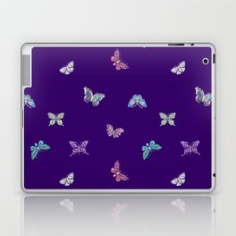 Christmas Butterfly Ornaments on purple Laptop & iPad Skin