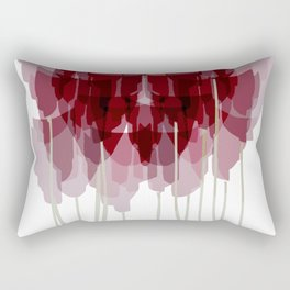 Dark Red Goblet Flower Bunch Rectangular Pillow