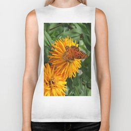 Blooms and Butterfly Biker Tank