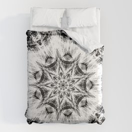 Atomic Black Center Swirl Mandala Comforters