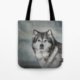 Drawing Dog Alaskan Malamute Tote Bag