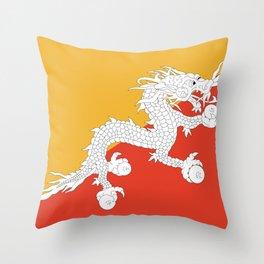 Bhutanese flag Patriotic Bhutan Flag Throw Pillow