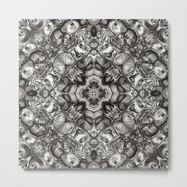 Grey Kaleidoscope Metal Print