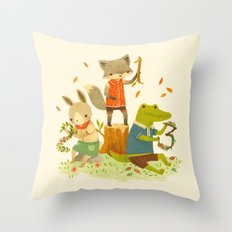 Counting with Barefoot Critters Throw Pillow