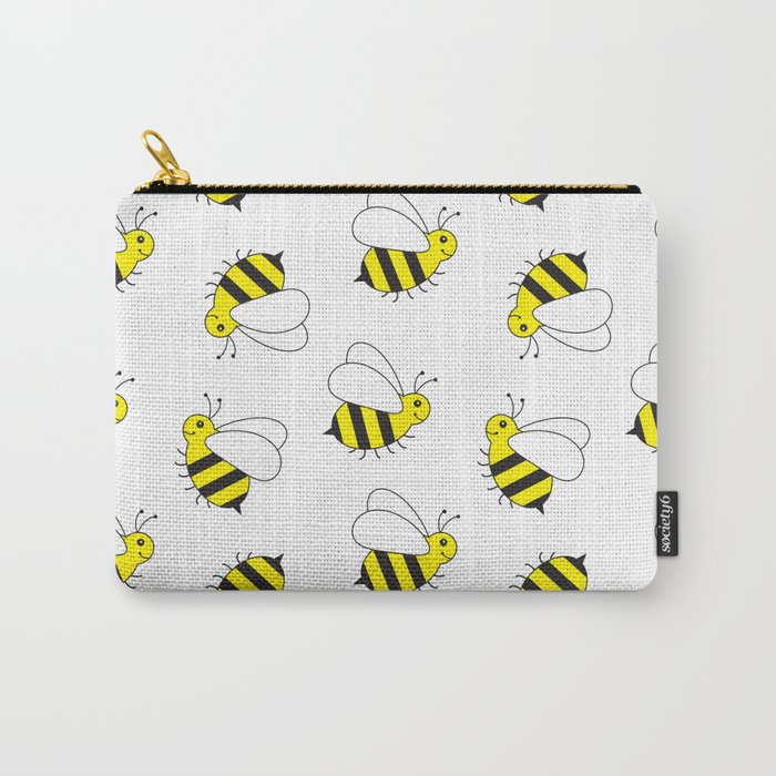 Bumble Bee Pattern Carry-All Pouch