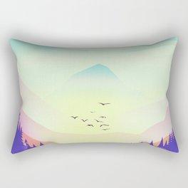 Misty Mountain Rectangular Pillow