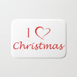 I love Christmas Bath Mat