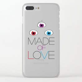 Made of love Clear iPhone Case