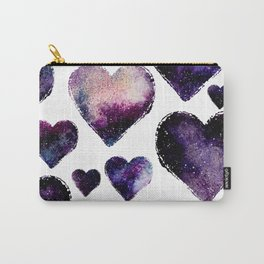 Galaxy Hearts Pattern Carry-All Pouch