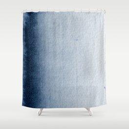 Indigo Vertical Blur Abstract Shower Curtain