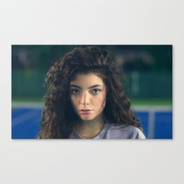 Lorde - Tennis Court Head Shot Canvas Print