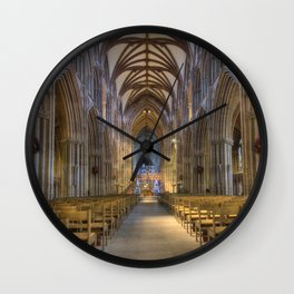 Lichfield cathedral 2 Wall Clock