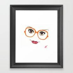 Hipster Eyes 2 Framed Art Print