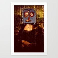 Mona Lisbot Art Print