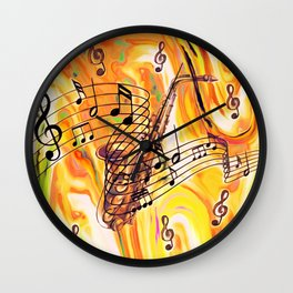 Music was my first Love Wall Clock