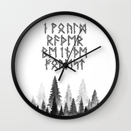 I'd Rather Be in the Forest Wall Clock