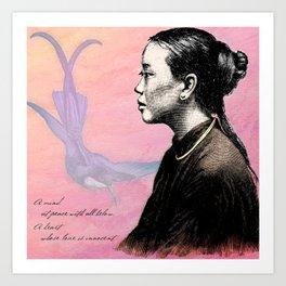 Poetry Girls: China Girl Art Print
