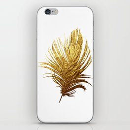 Golden Feather iPhone Skin