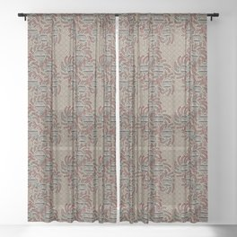 Sun Flower 3 Sheer Curtain