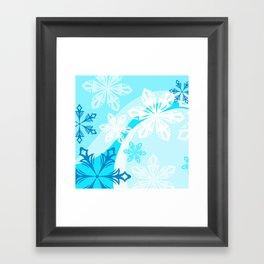 Abstract Winter Holiday Framed Art Print