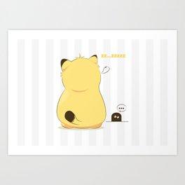 Monday cat Art Print