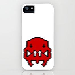 Pixel Invader : Red iPhone Case
