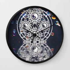 Yin Yang Symmetry Balance Reflection Wall Clock