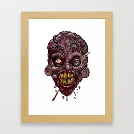 Heads of the Living Dead Zombies: Veins Zombie Framed Art Print